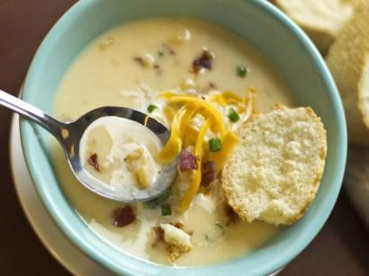 Fırınlanmış Patates Çorbası tarifi