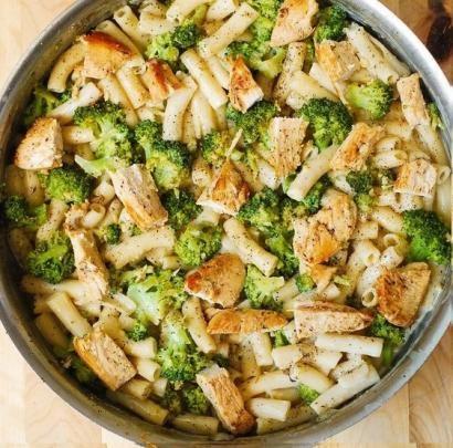Brokoli Ve Tavuklu Makarna tarifi