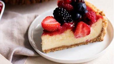 Kırmızı Meyveli Pratik Cheesecake tarifi